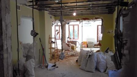 Obras en la reforma de una vivienda
